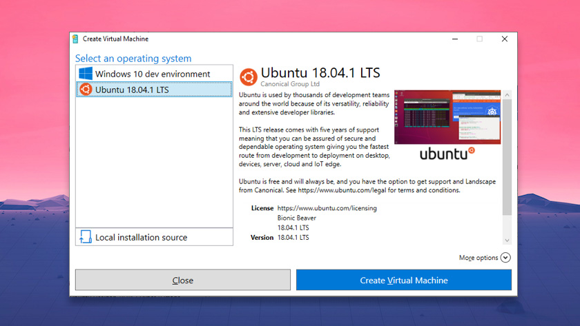 Ubuntu Hyper-V image in Windows 10