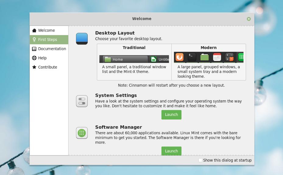 Linux Mint Cinnamon 4.0 desktop has a new panel layout