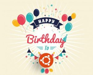 happy birthday ubuntu graphic