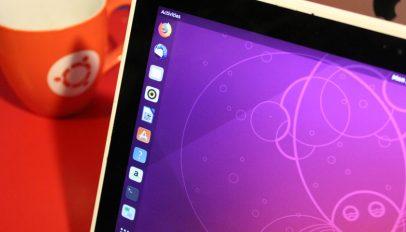 photo of ubuntu on a laptop