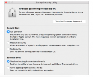 Apple Startup Security Utility