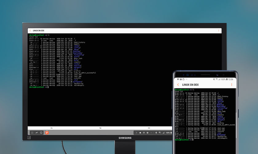 Linux terminal on the go