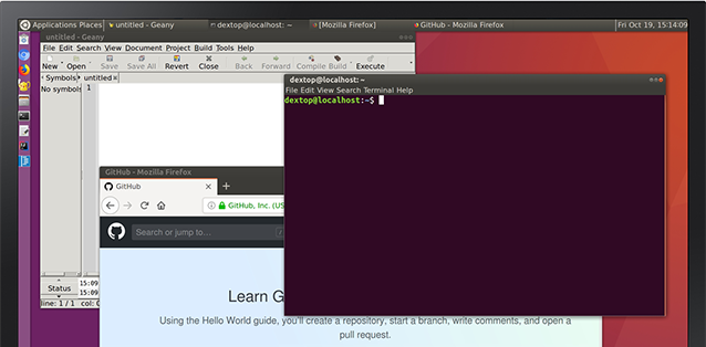 ubuntu desktop on linux on dex