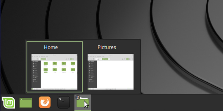 Mint's window list applet