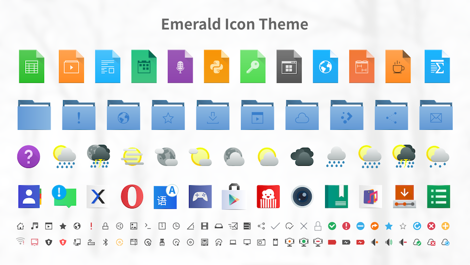 emerald breeze icon theme for linux