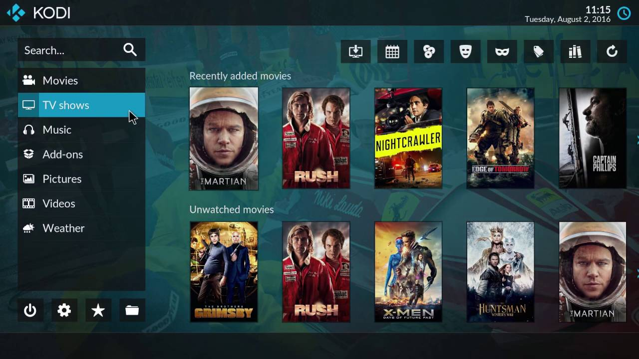 the kodi media center