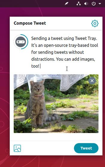 Tweet Tray on Ubuntu