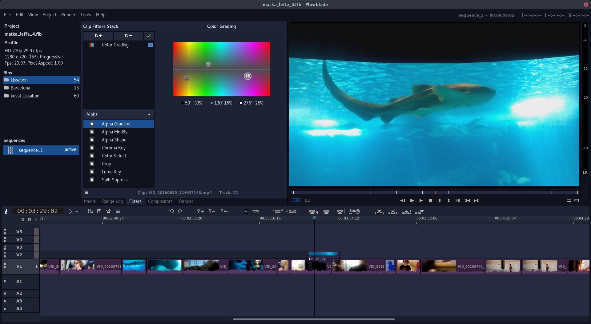 Screenshot of Flowblade 2.0