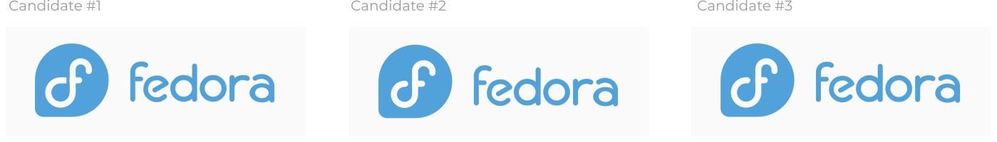 fedora new logo candidates