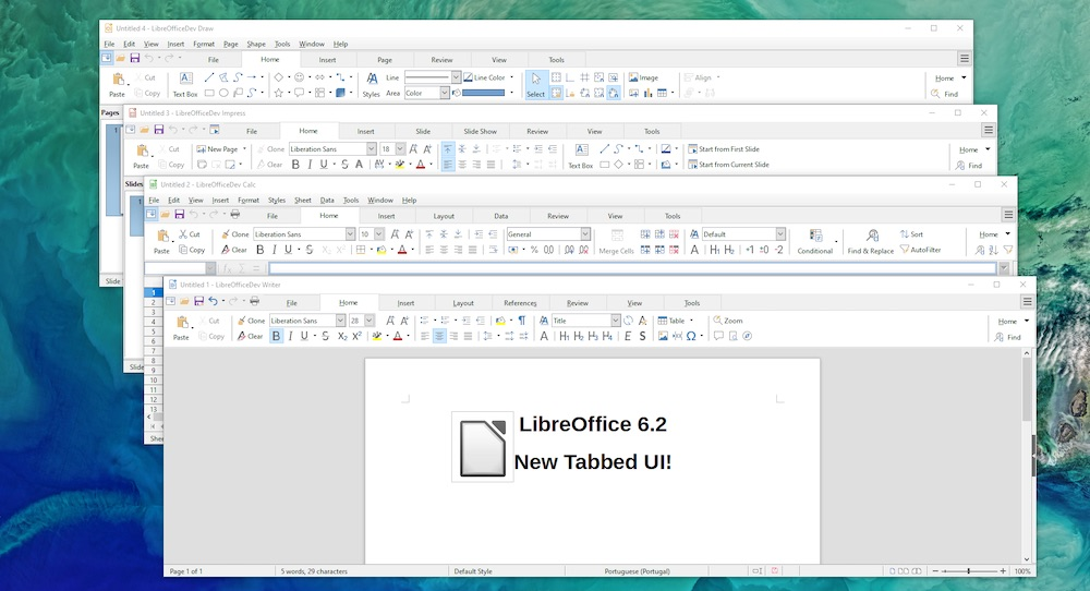 libreoffice notebookbar tabbed