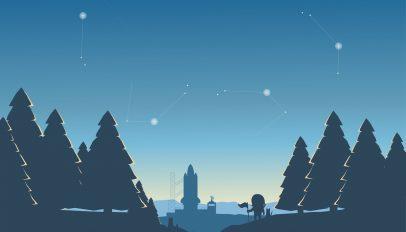 i see stars illustrated fedora wallpaper