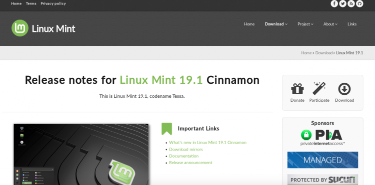 Linux Mint new website and logo