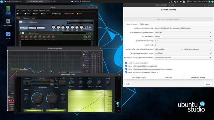 Ubuntu Studio 19.04 desktop screenshot