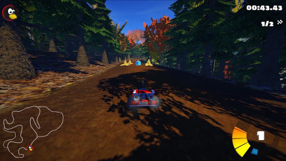SuperTukKart 0.10 'Black Forest' racing track stage