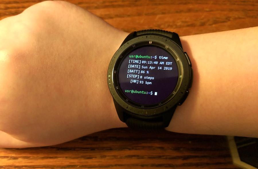 Ubuntu watch face for the Samsung Galaxy Watch