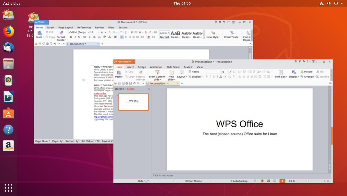 wps office for linux update available to download