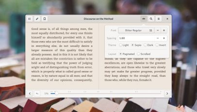 foliate ebook reader screenshot
