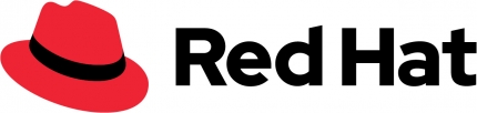 red hat's new logo on a white background