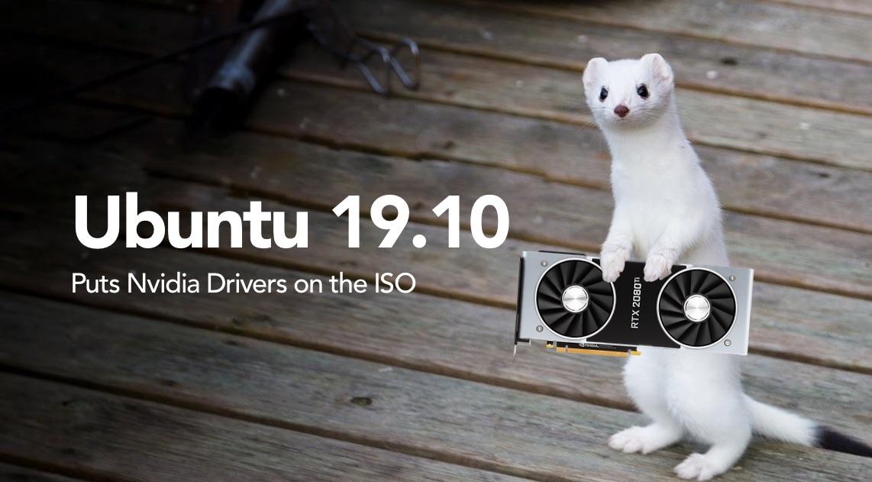 Nvidia drivers on Ubuntu 19.10 ISO