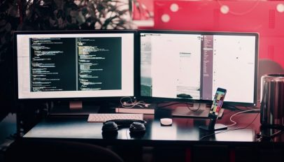 coding workstation from unsplash