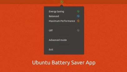 ubuntu battery saver app
