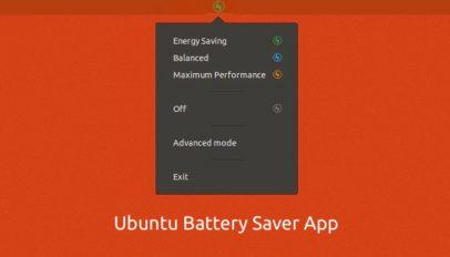ubuntu battery saver app