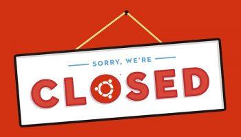 ubuntu closed shop sign