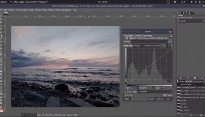 GIMP 2.10.12 curves tool lgw