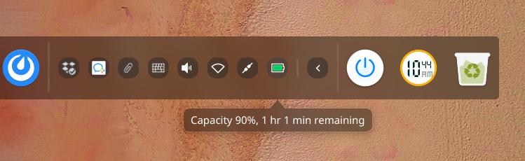 A screenshot of the Deepin desktop environment dock