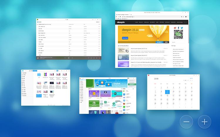 Deepin desktop environment uses the Kwin window manager