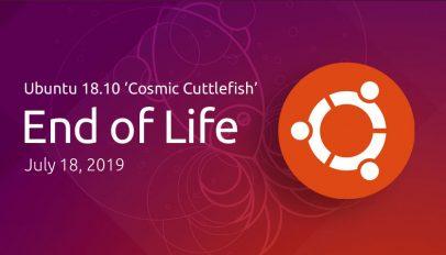 Ubuntu 18.10 end of life