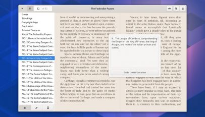 Foliate Ebook reader on Ubuntu