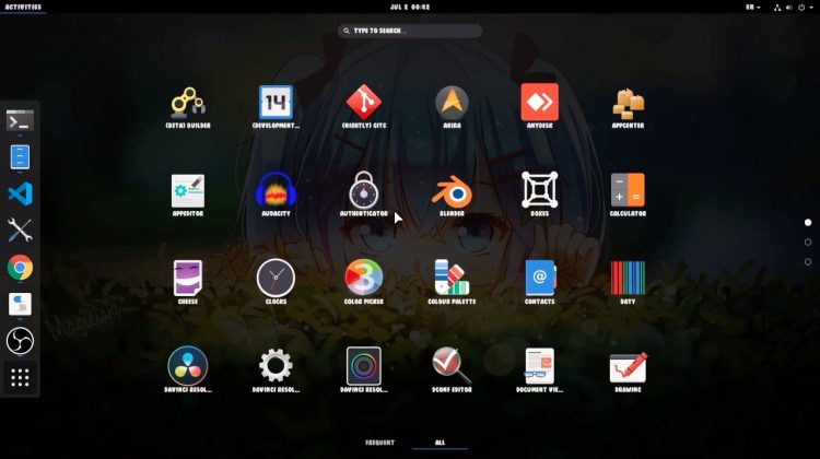 GNOME Applications Grid