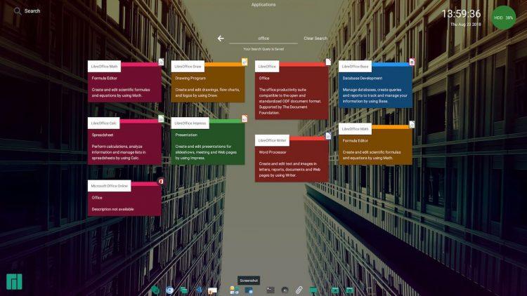 A screenshot of the Jade desktop environment for Linux