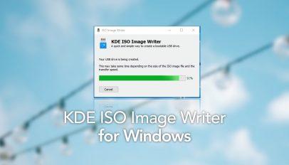 KDE USB ISO Writer for Windows desktops