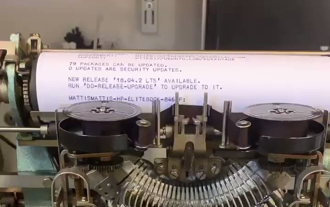 Linux Teletype Machine