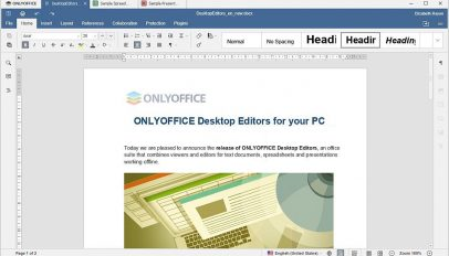 OnlyOffice Text Editing App