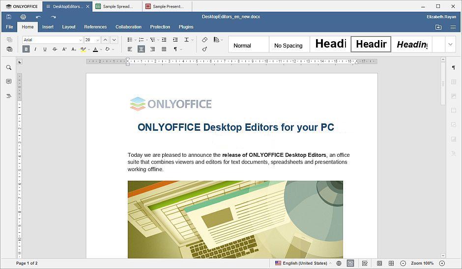 بدائل مايكروسوفت اوفيس- حزمة OnlyOffice