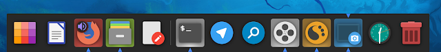 Screenshot of Latte Dock