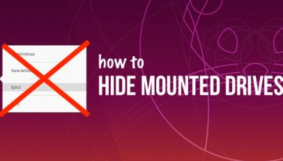 hide mounted drives in ubuntu