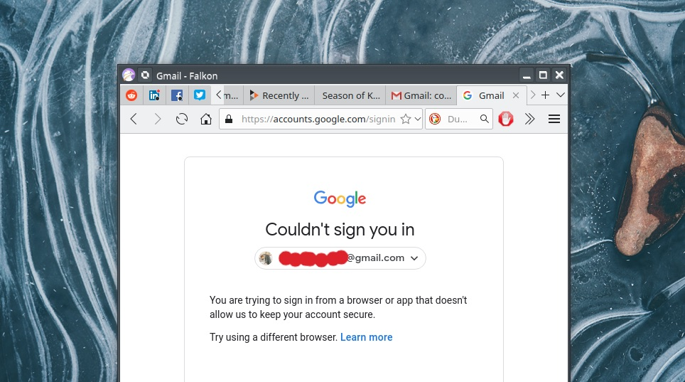 'Couldn't Sign You In' — Google Denies Access to Several Linux Browsers