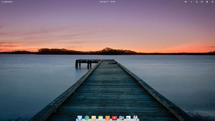 elementary os desktop screenshot