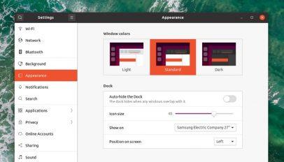 dark mode setting in Ubuntu 20.04