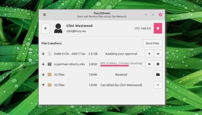 Linux Mint's new file transfer app