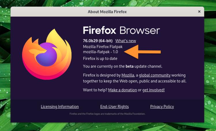 firefox flatpak app