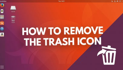 how to remove the trash icon in ubuntu