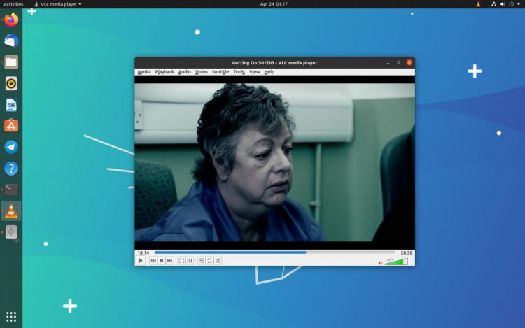 screenshot of VLC media player on ubuntu