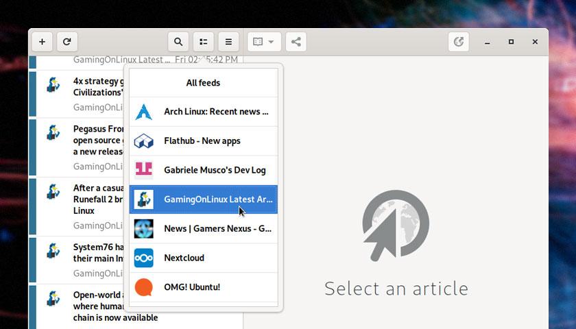 'Feeds' is a Terrific RSS Reader for Linux Desktops