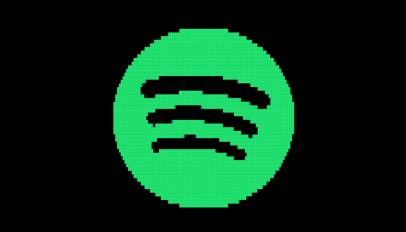 spotify pixelated logo
