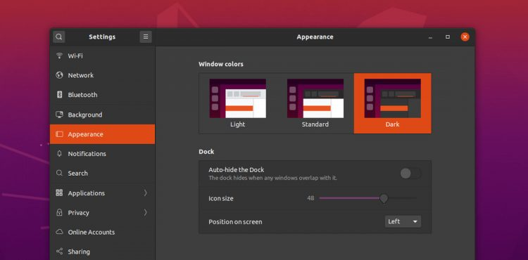 Ubuntu 20.04 LTS: Dark Mode